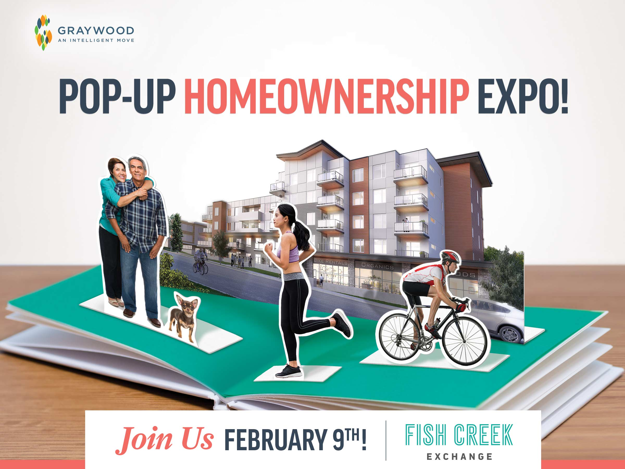 Invitation to attend a Calgary Pop-up Homeownership Expo at Fish Creek Exchange